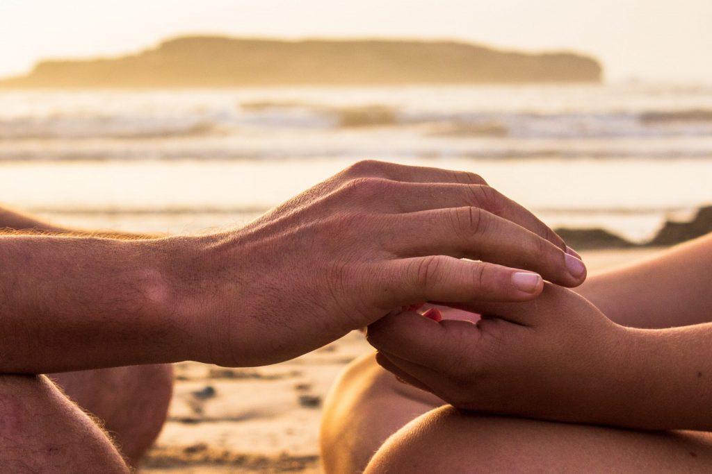 Meditação na praia de Pipa