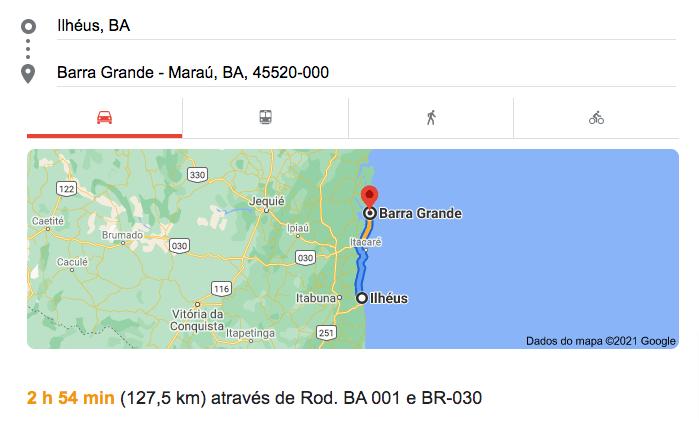 Como chegar em Barra Grande